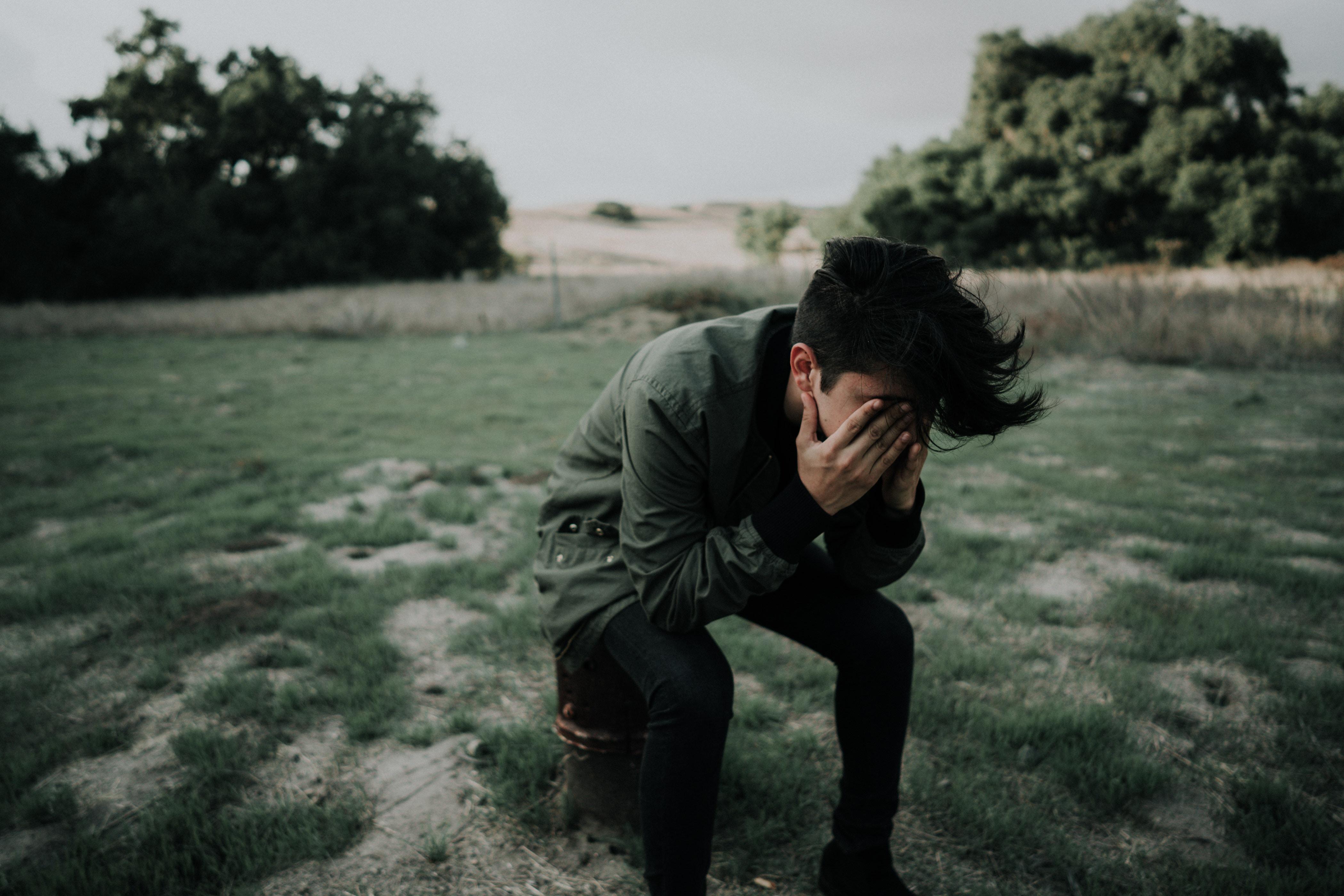 Sorrowful man